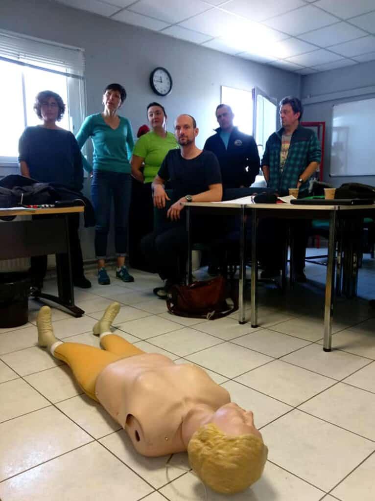 Préparation du mannequin pour les exercices RIFAP - AixPlo février 2020
