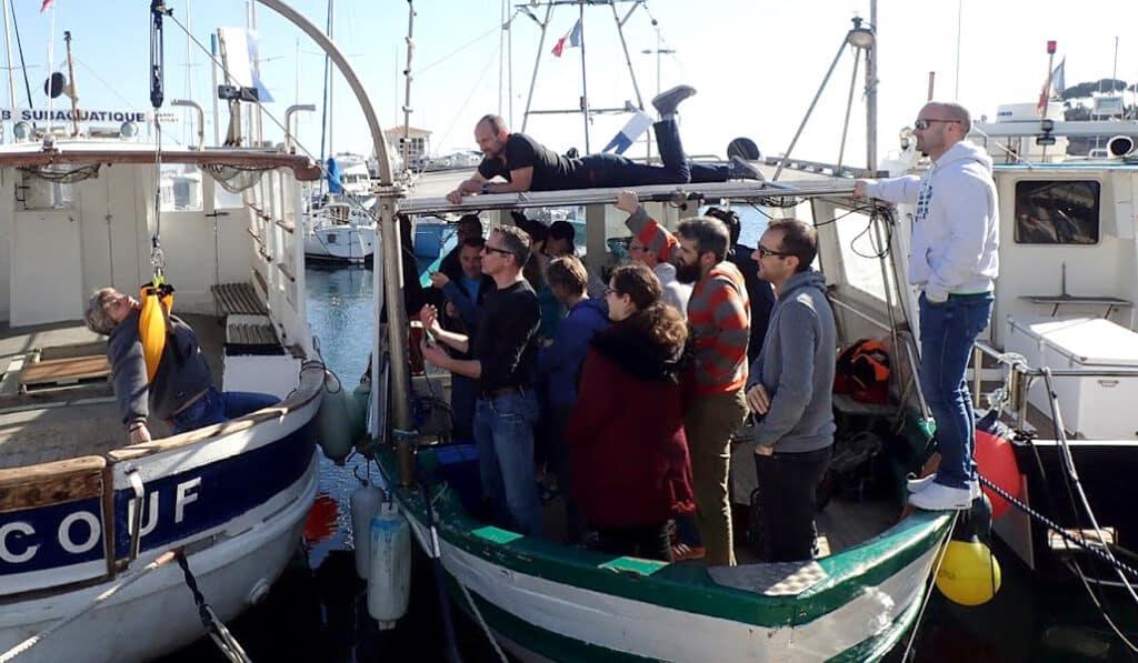 Exercice RIFAP, hélitreuillage d'un plongeur en détresse - AixPlo février 2020