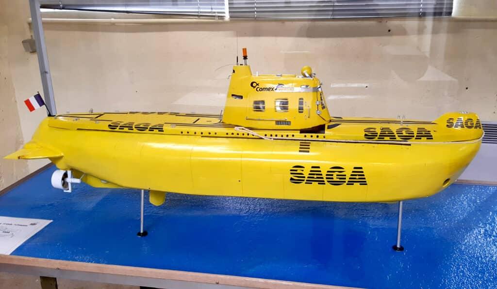 Maquette du sous-marin SAGA - AixPlo février 2020
